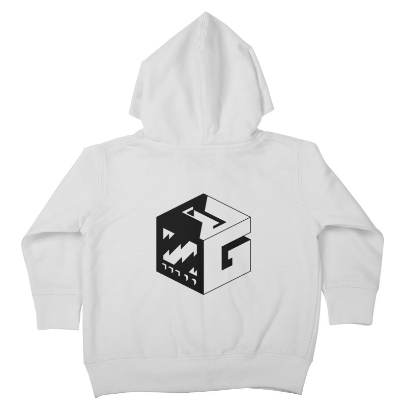 GOSU Cube (Black Logo) Kids Toddler Zip-Up Hoody by GamersOfOSU's Artist Shop