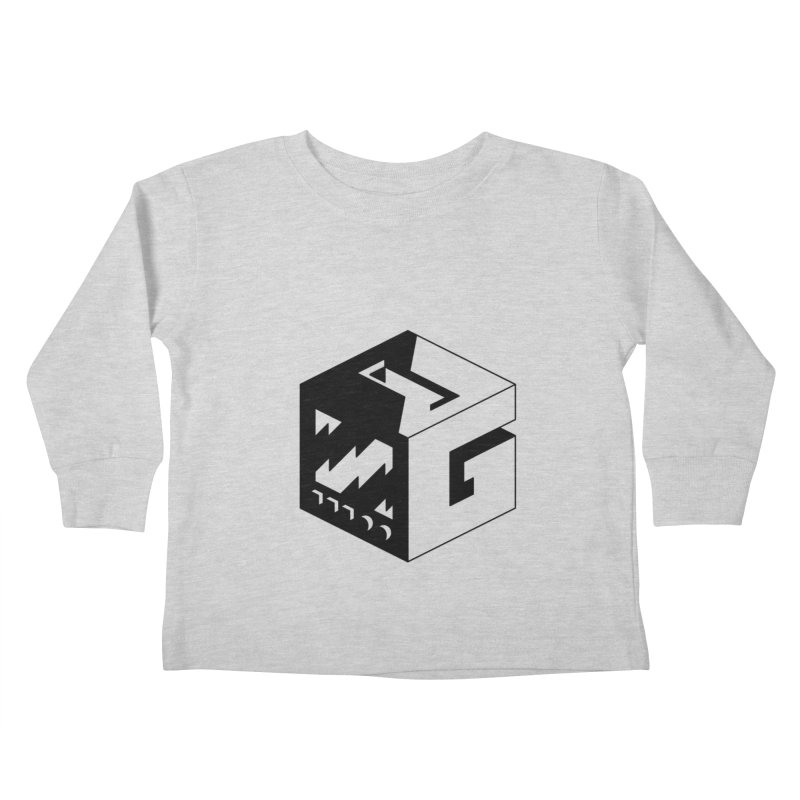 GOSU Cube (Black Logo) Kids Toddler Longsleeve T-Shirt by GamersOfOSU's Artist Shop