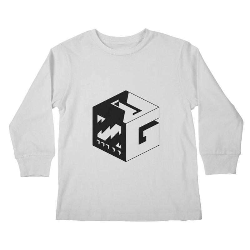 GOSU Cube (Black Logo) Kids Longsleeve T-Shirt by GamersOfOSU's Artist Shop