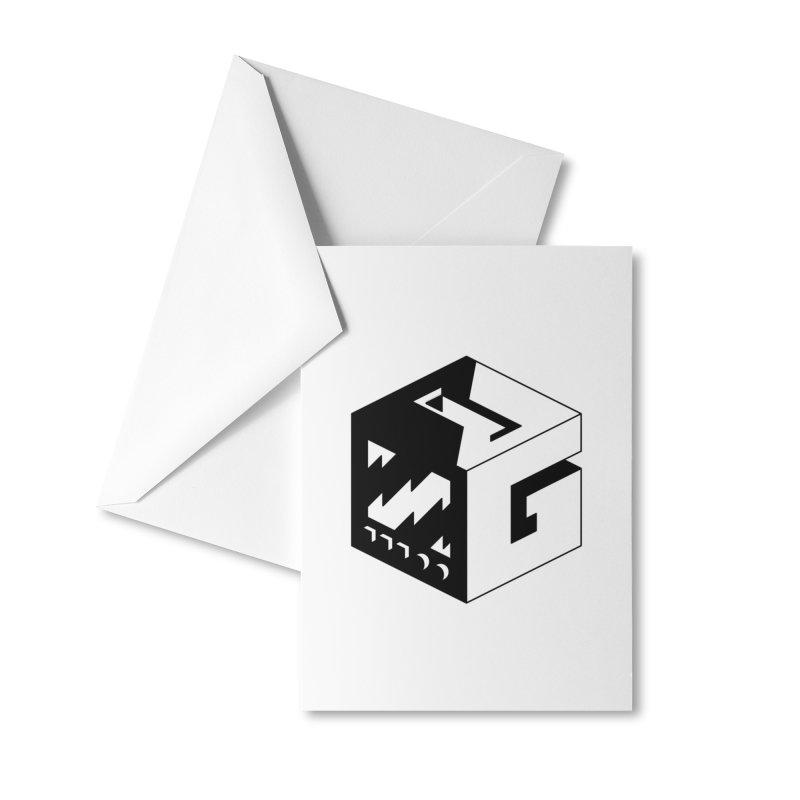 GOSU Cube (Black Logo) Accessories Greeting Card by GamersOfOSU's Artist Shop