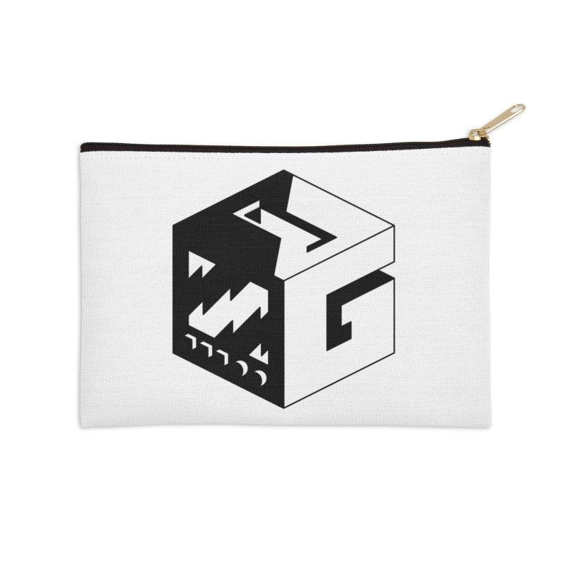 GOSU Cube (Black Logo) Accessories Zip Pouch by GamersOfOSU's Artist Shop