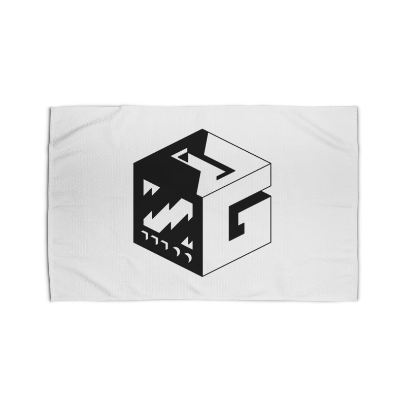 GOSU Cube (Black Logo) Home Rug by GamersOfOSU's Artist Shop