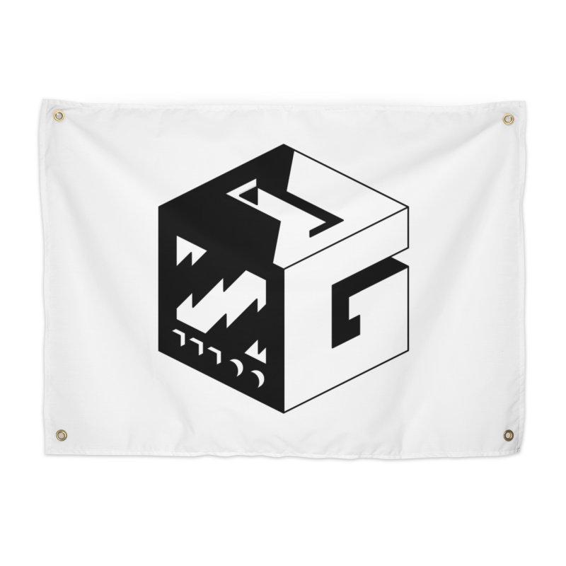 GOSU Cube (Black Logo) Home Tapestry by GamersOfOSU's Artist Shop