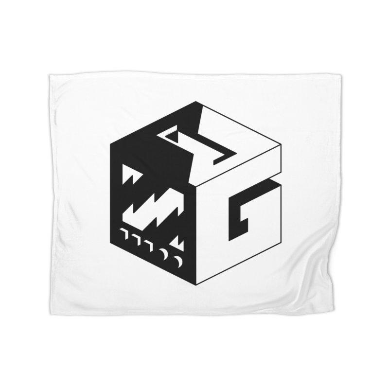 GOSU Cube (Black Logo) Home Blanket by GamersOfOSU's Artist Shop