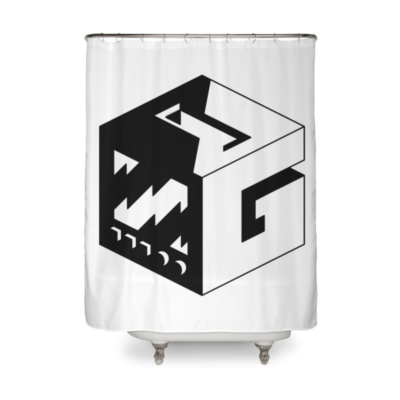 GOSU Cube (Black Logo) Home Shower Curtain by GamersOfOSU's Artist Shop