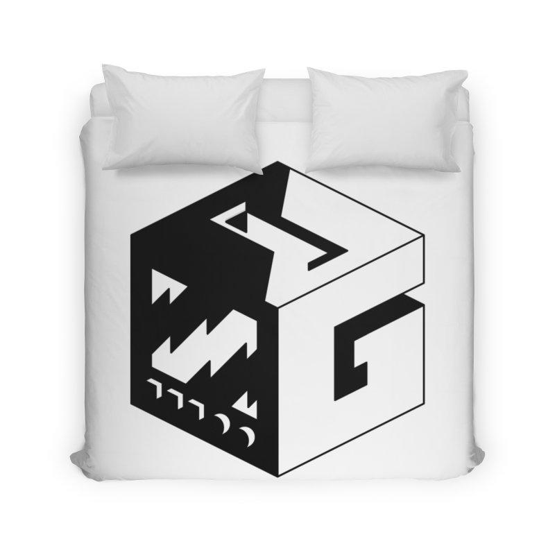 GOSU Cube (Black Logo) Home Duvet by GamersOfOSU's Artist Shop