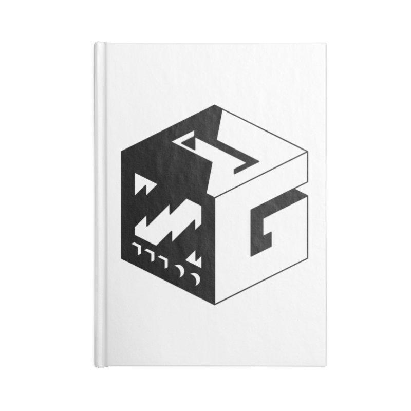 GOSU Cube (Black Logo) Accessories Notebook by GamersOfOSU's Artist Shop