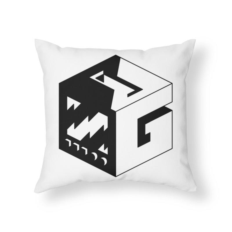 GOSU Cube (Black Logo) Home Throw Pillow by GamersOfOSU's Artist Shop