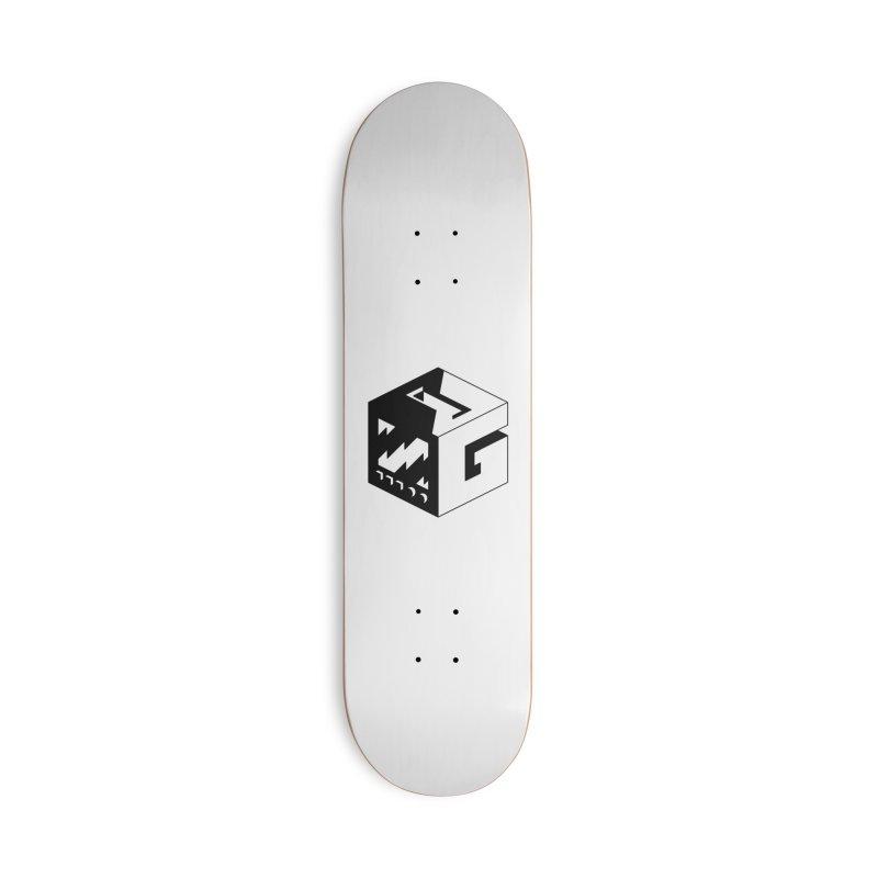 GOSU Cube (Black Logo) Accessories Skateboard by GamersOfOSU's Artist Shop