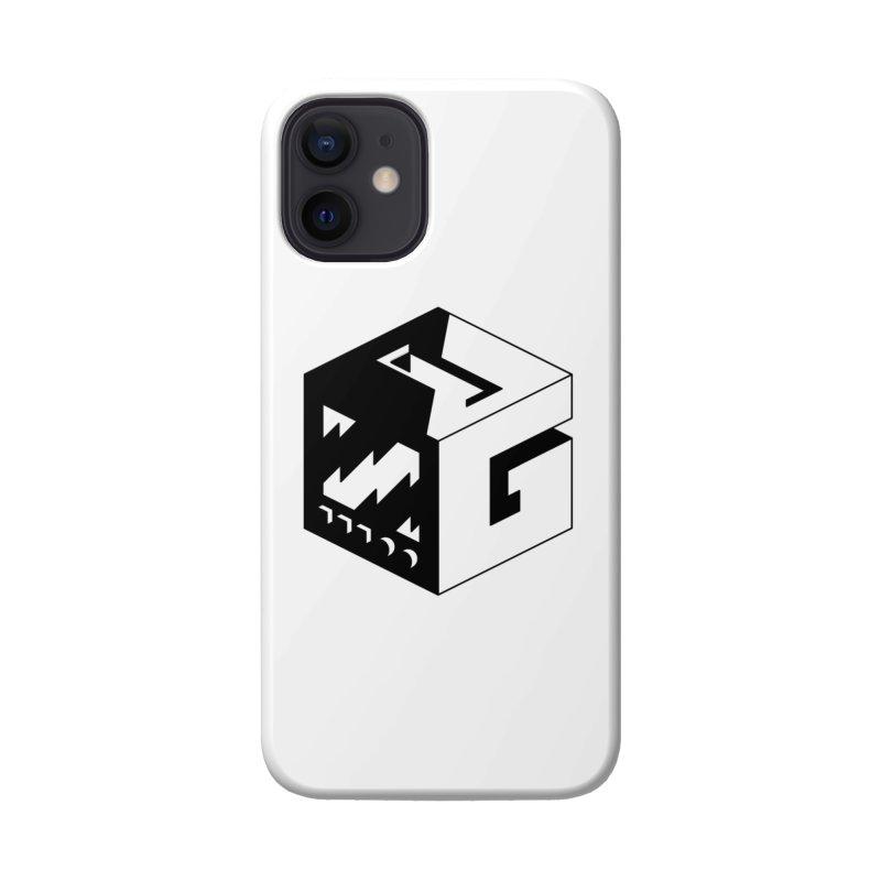 GOSU Cube (Black Logo) Accessories Phone Case by GamersOfOSU's Artist Shop