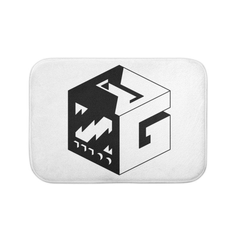 GOSU Cube (Black Logo) Home Bath Mat by GamersOfOSU's Artist Shop