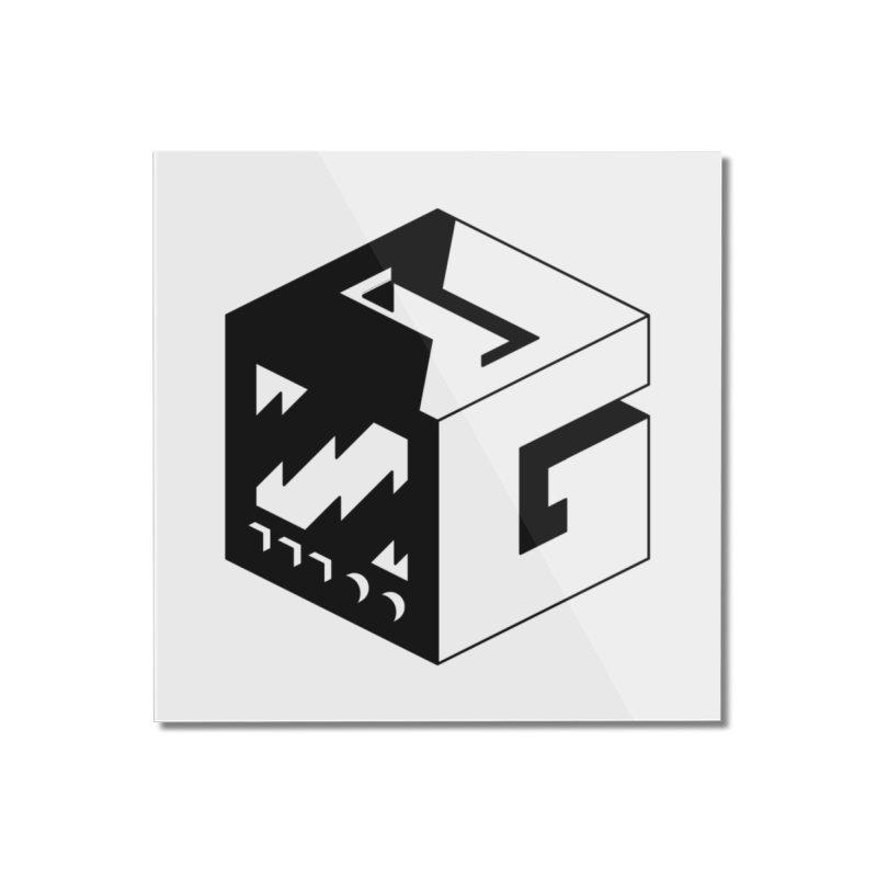 GOSU Cube (Black Logo) Home Mounted Acrylic Print by GamersOfOSU's Artist Shop