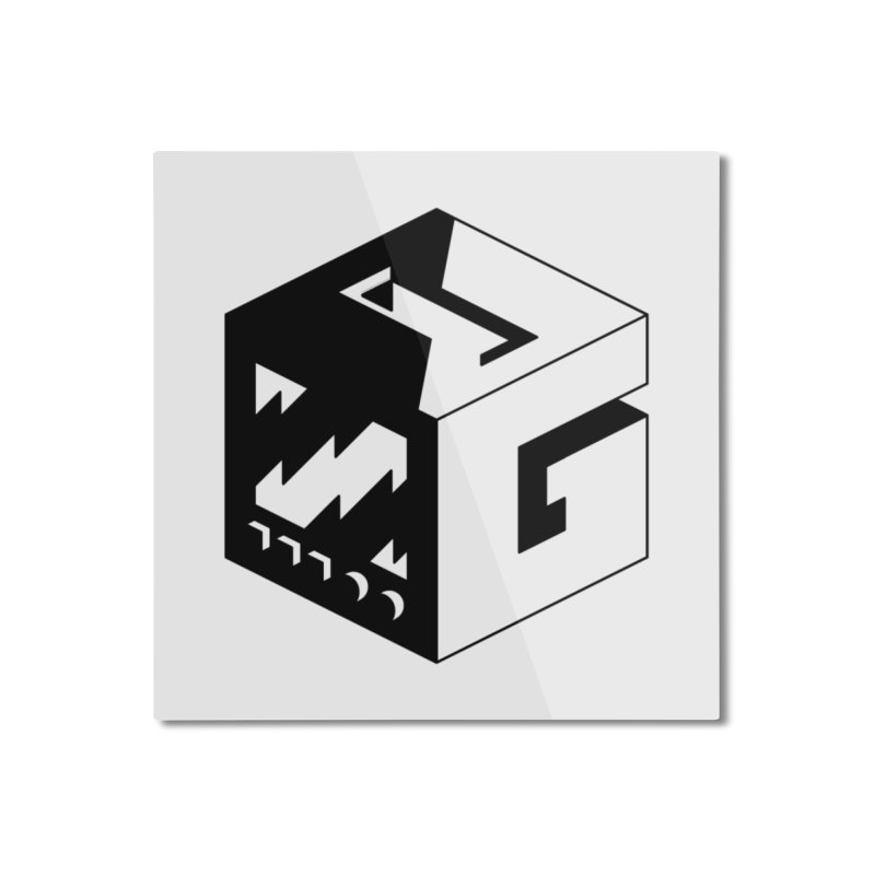 GOSU Cube (Black Logo) Home Mounted Aluminum Print by GamersOfOSU's Artist Shop