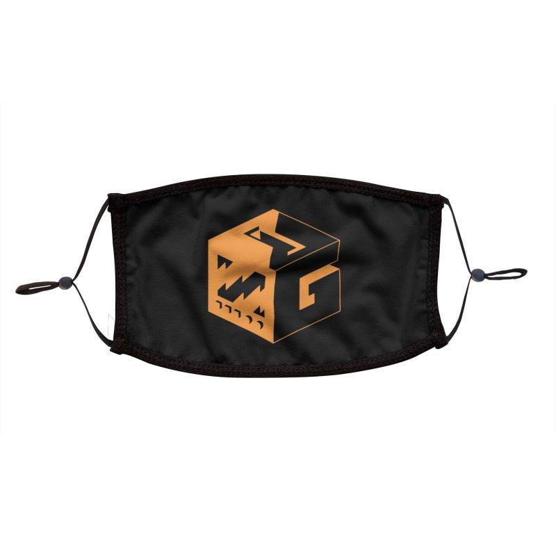 GOSU Cube (Orange Logo) Accessories Face Mask by GamersOfOSU's Artist Shop