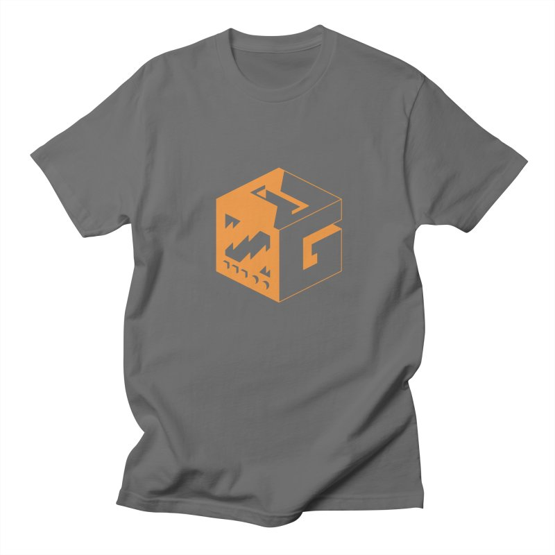 GOSU Cube (Orange Logo) Men's T-Shirt by GamersOfOSU's Artist Shop