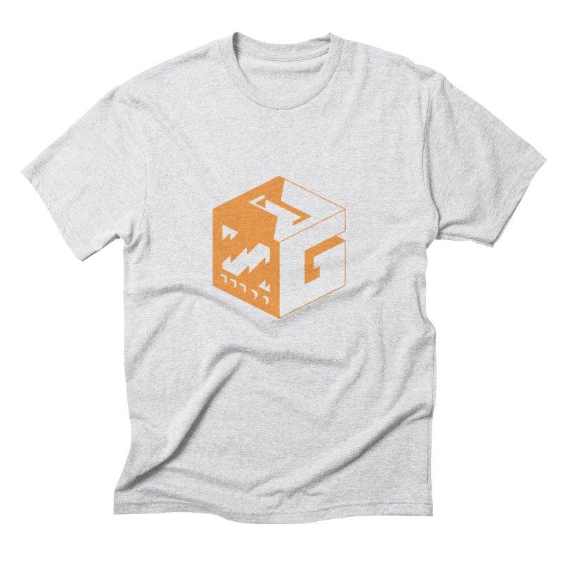 GOSU Cube (Orange Logo) Men's T-Shirt by GamersOfOSU's Artist Shop