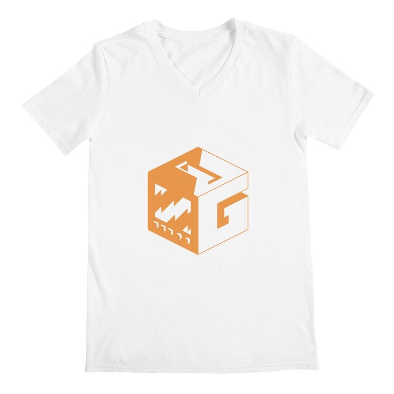 GOSU Cube (Orange Logo) Men's V-Neck by GamersOfOSU's Artist Shop