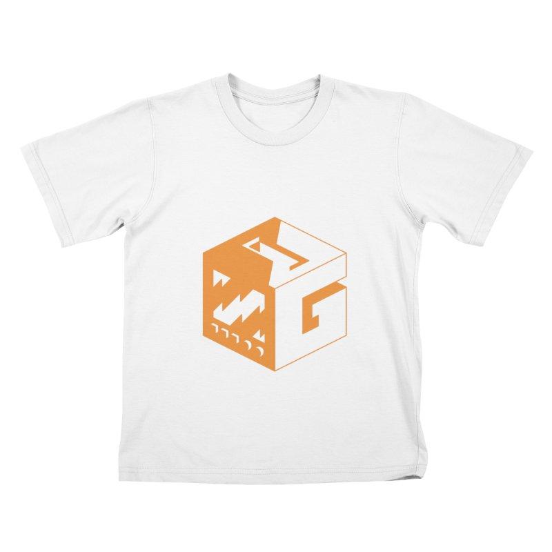 GOSU Cube (Orange Logo) Kids T-Shirt by GamersOfOSU's Artist Shop