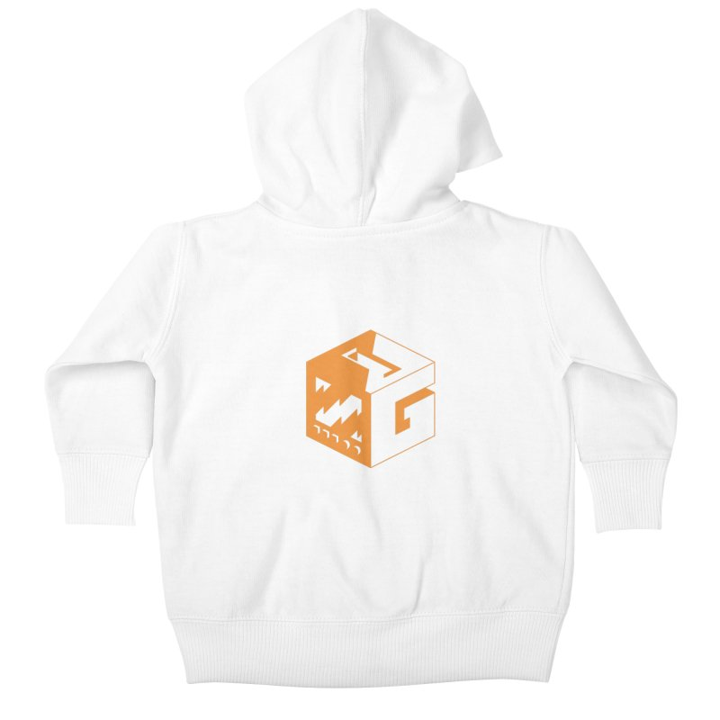 GOSU Cube (Orange Logo) Kids Baby Zip-Up Hoody by GamersOfOSU's Artist Shop