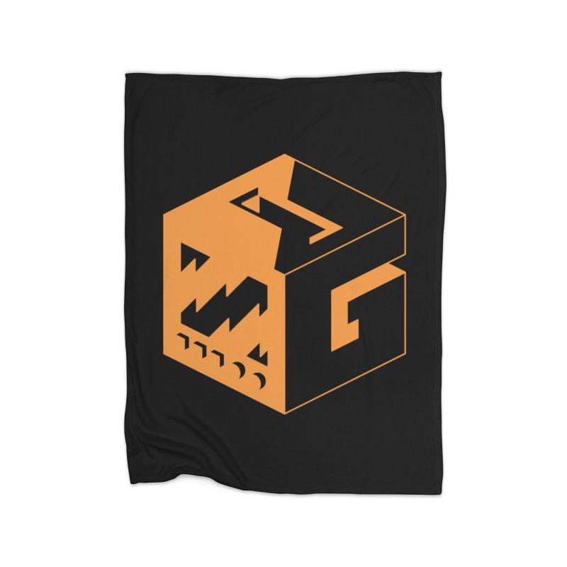 GOSU Cube (Orange Logo) Home Blanket by GamersOfOSU's Artist Shop