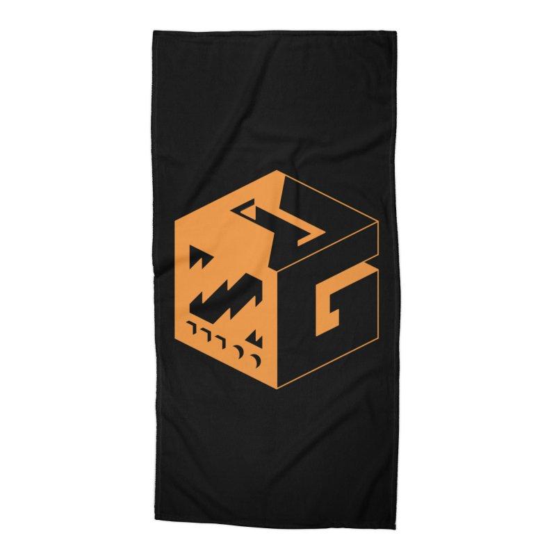 GOSU Cube (Orange Logo) Accessories Beach Towel by GamersOfOSU's Artist Shop