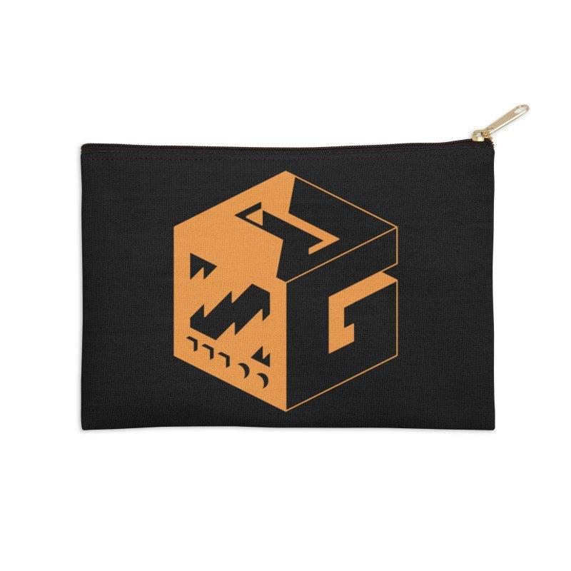 GOSU Cube (Orange Logo) Accessories Zip Pouch by GamersOfOSU's Artist Shop
