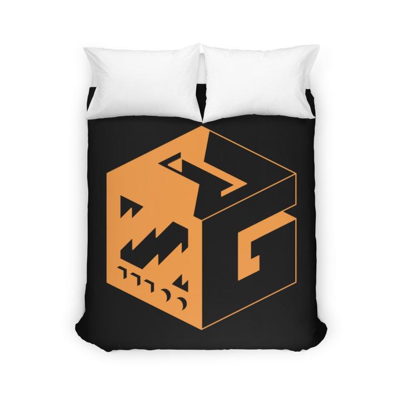 GOSU Cube (Orange Logo) Home Duvet by GamersOfOSU's Artist Shop