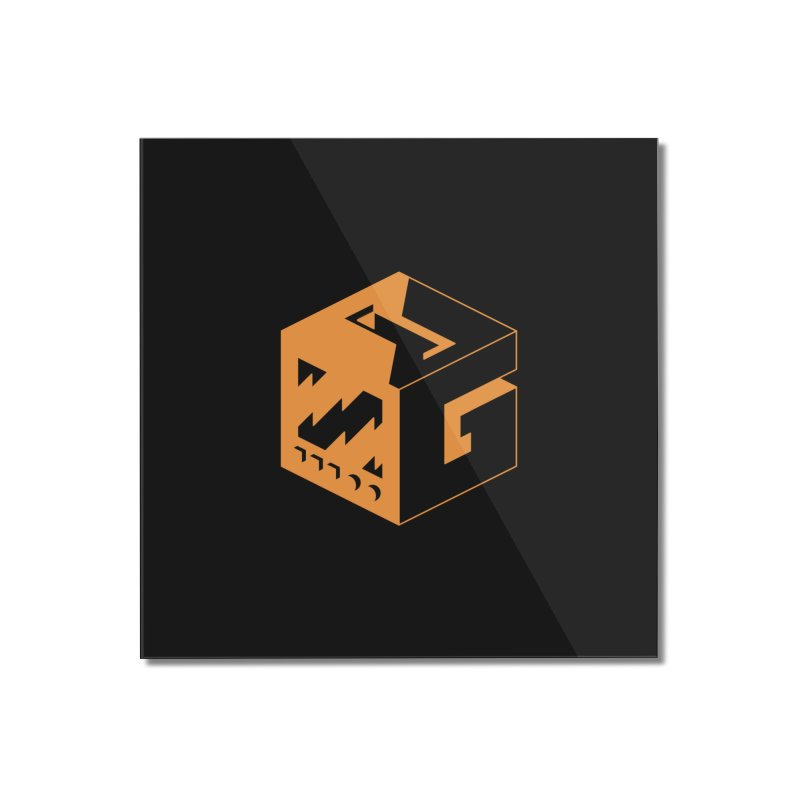 GOSU Cube (Orange Logo) Home Mounted Acrylic Print by GamersOfOSU's Artist Shop