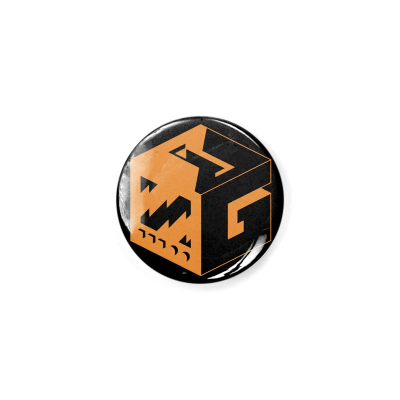 GOSU Cube (Orange Logo) Accessories Button by GamersOfOSU's Artist Shop