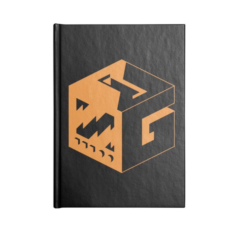 GOSU Cube (Orange Logo) Accessories Notebook by GamersOfOSU's Artist Shop