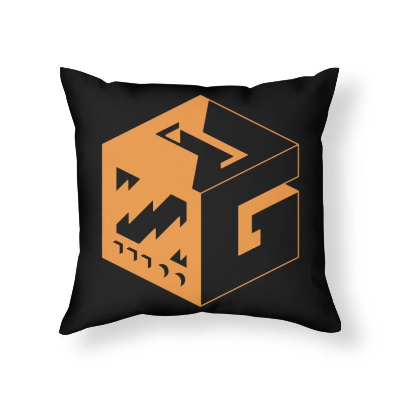 GOSU Cube (Orange Logo) Home Throw Pillow by GamersOfOSU's Artist Shop