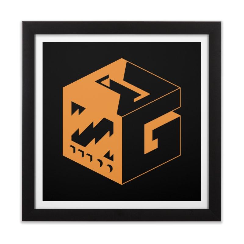 GOSU Cube (Orange Logo) Home Framed Fine Art Print by GamersOfOSU's Artist Shop