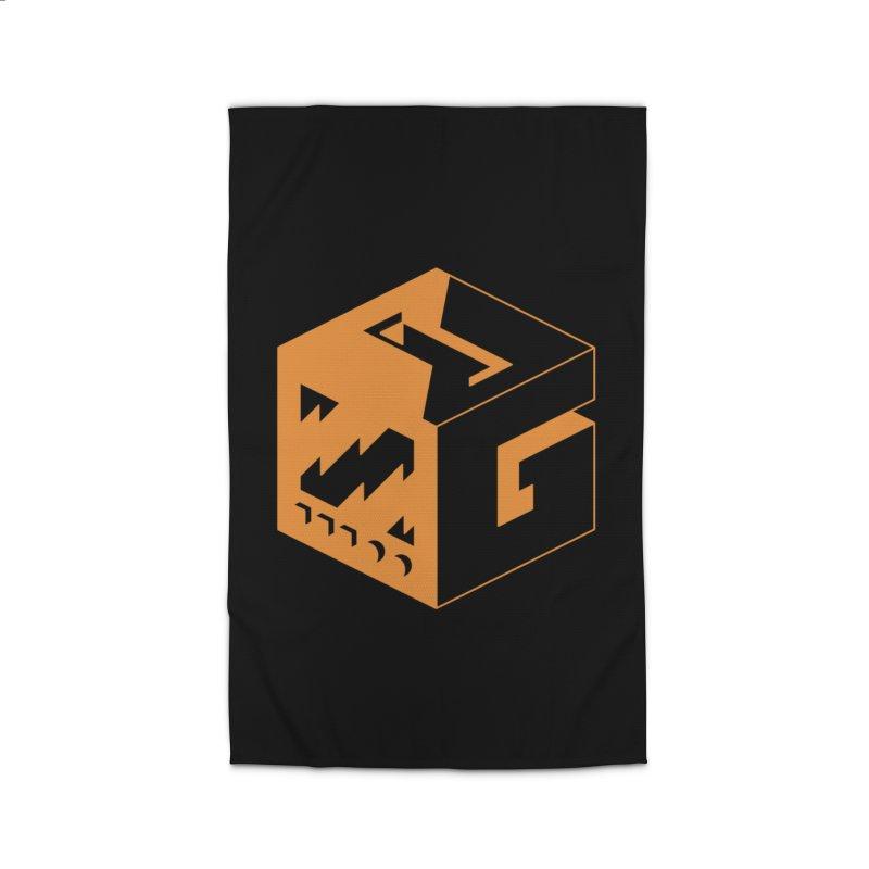 GOSU Cube (Orange Logo) Home Rug by GamersOfOSU's Artist Shop