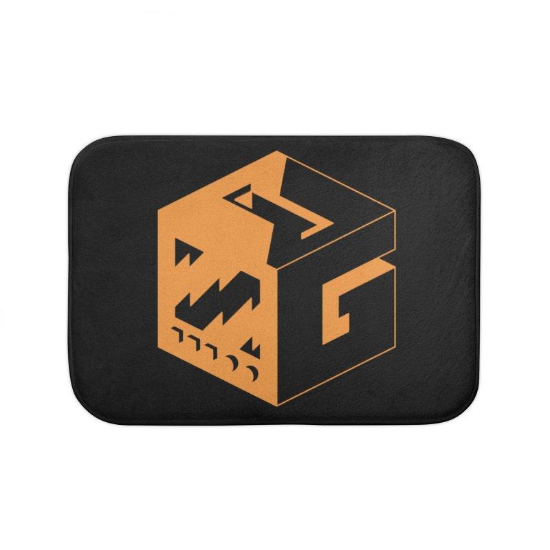 GOSU Cube (Orange Logo) Home Bath Mat by GamersOfOSU's Artist Shop