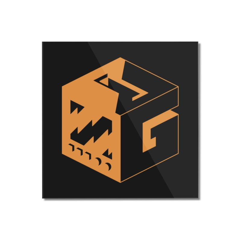 GOSU Cube (Orange Logo) Home Mounted Acrylic Print by GamersOfOSU's Artist Shop