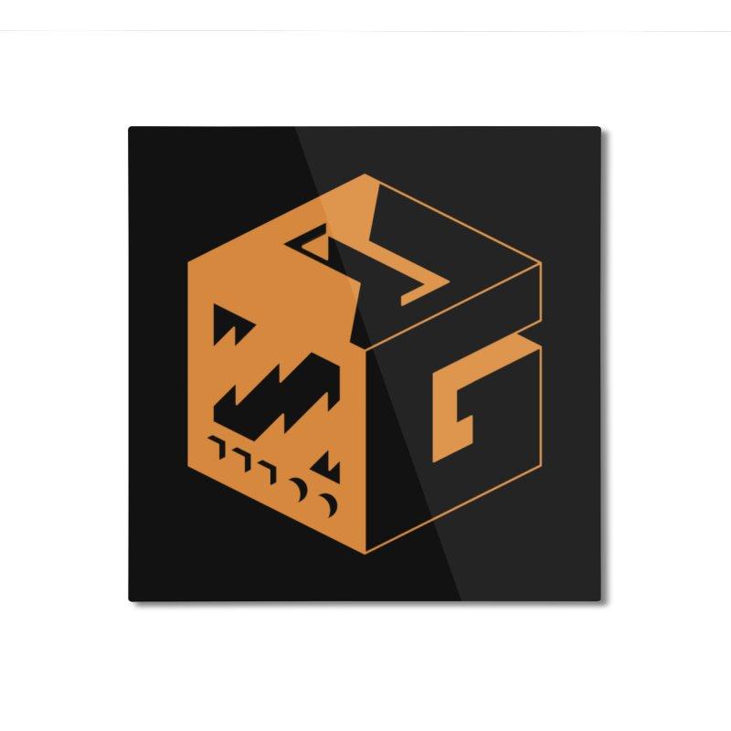 GOSU Cube (Orange Logo) Home Mounted Aluminum Print by GamersOfOSU's Artist Shop