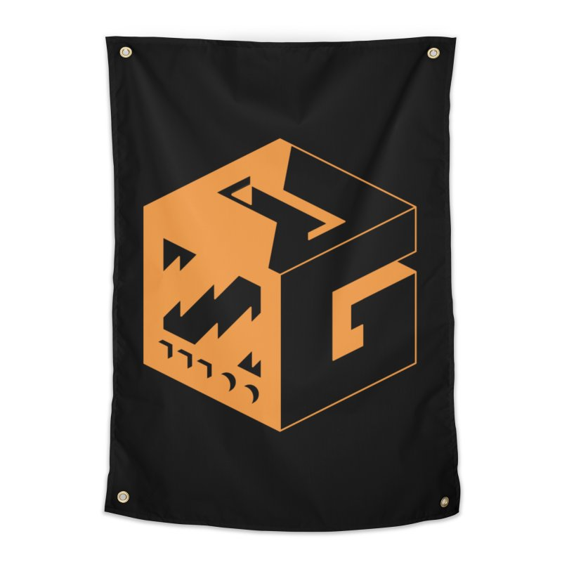 GOSU Cube (Orange Logo) Home Tapestry by GamersOfOSU's Artist Shop