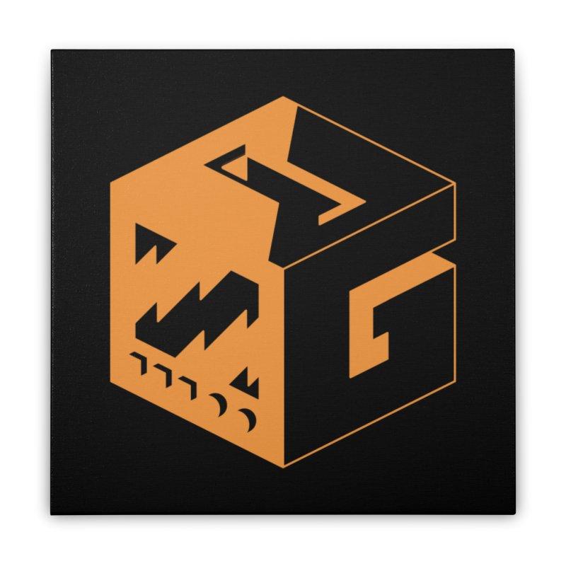 GOSU Cube (Orange Logo) Home Stretched Canvas by GamersOfOSU's Artist Shop