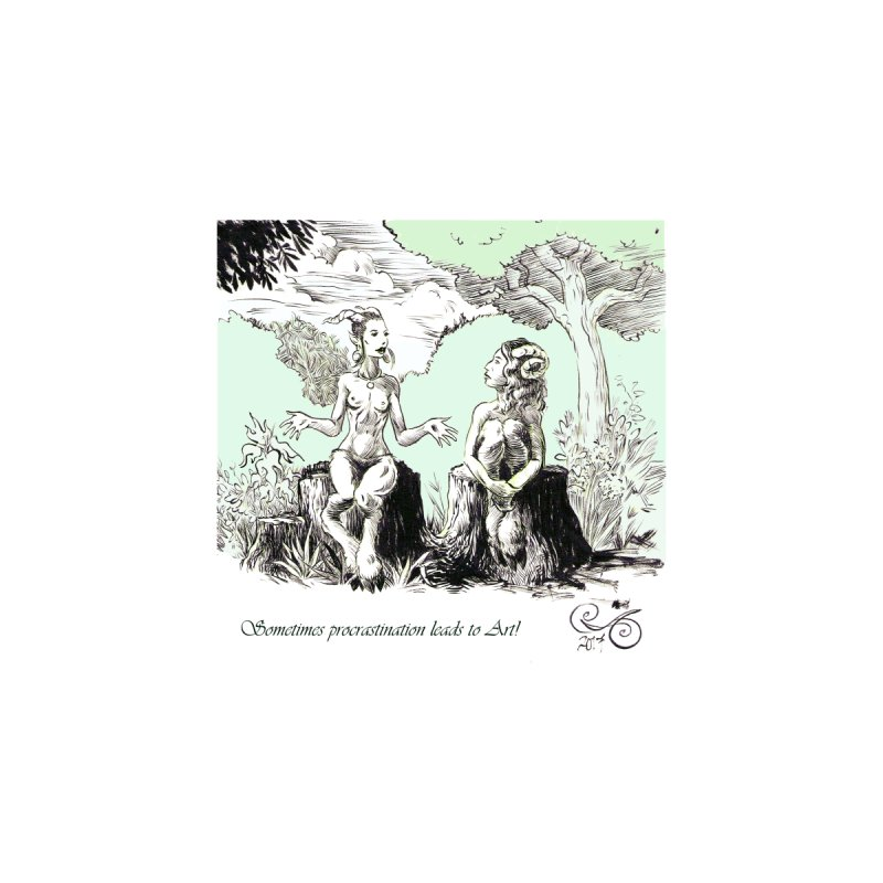 Conversation in the Woods by Gatorhorse's Artist Shop