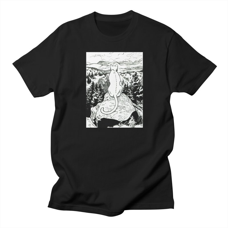 Sussuarana in Black and White Men's Regular T-Shirt by Gatorhorse's Artist Shop