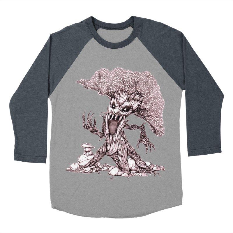 Beware of Trees Men's Baseball Triblend T-Shirt by GeckoTales Artist Shop