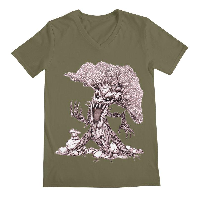 Beware of Trees Men's V-Neck by GeckoTales Artist Shop