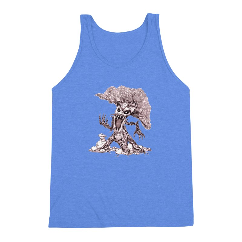 Beware of Trees Men's Triblend Tank by GeckoTales Artist Shop