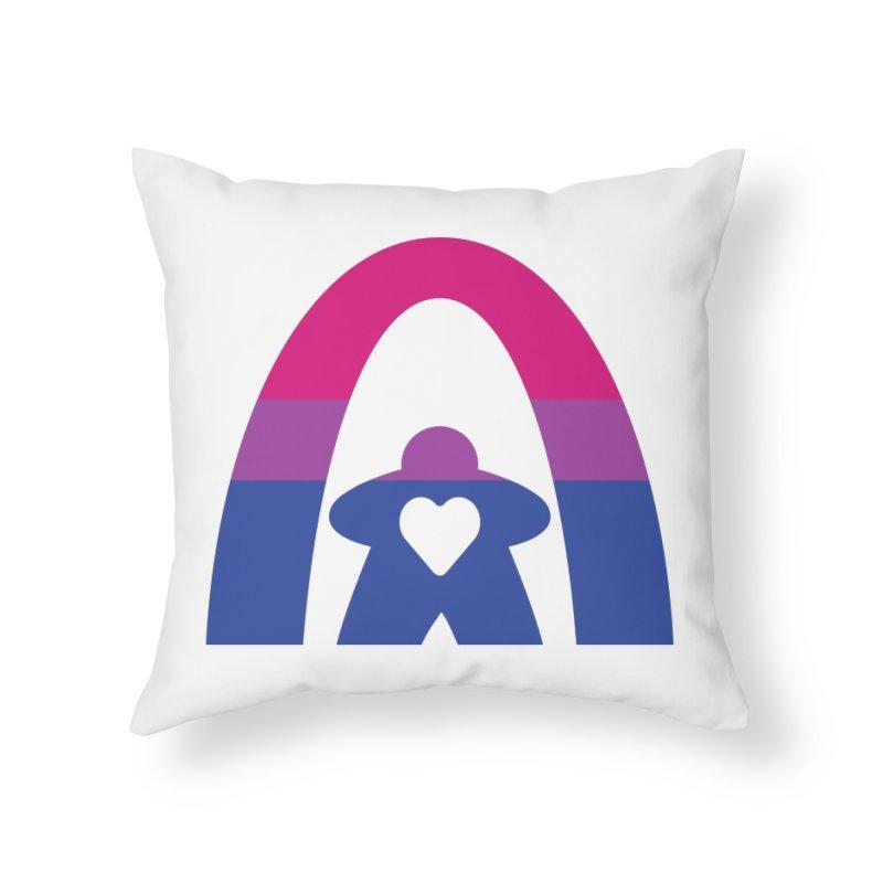 Geekway Bi Home Throw Pillow by Geekway's Artist Shop