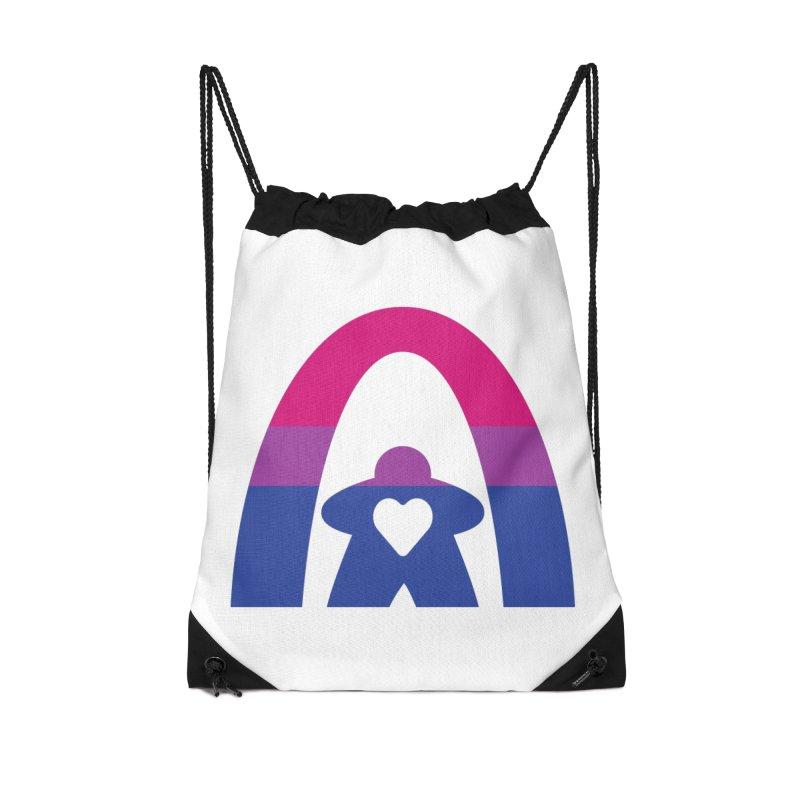 Geekway Bi Accessories Drawstring Bag Bag by Geekway's Artist Shop