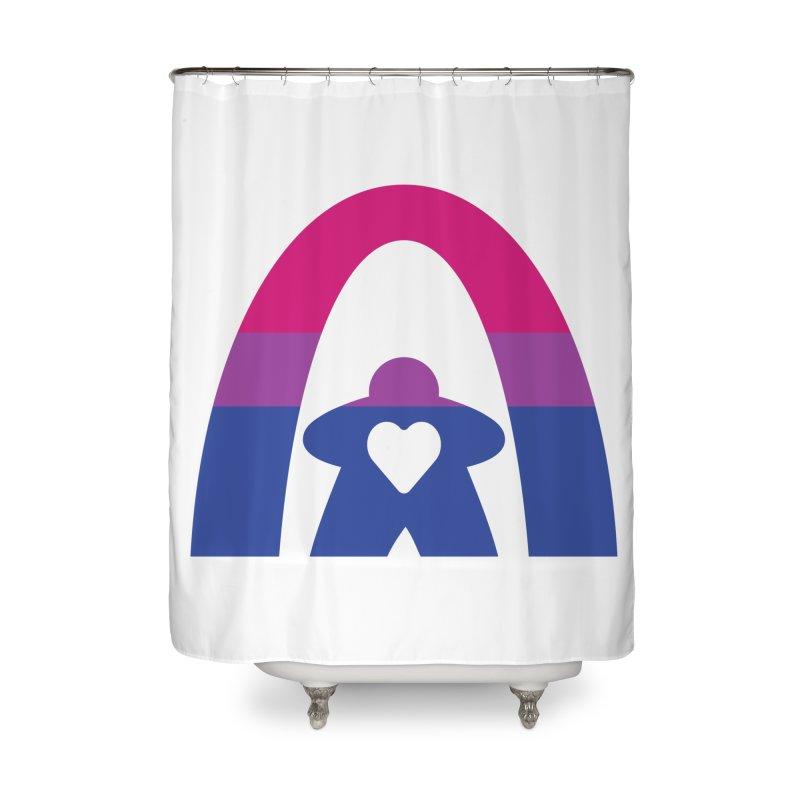 Geekway Bi Home Shower Curtain by Geekway's Artist Shop