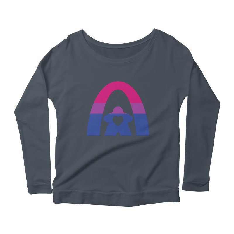 Geekway Bi Women's Scoop Neck Longsleeve T-Shirt by Geekway's Artist Shop