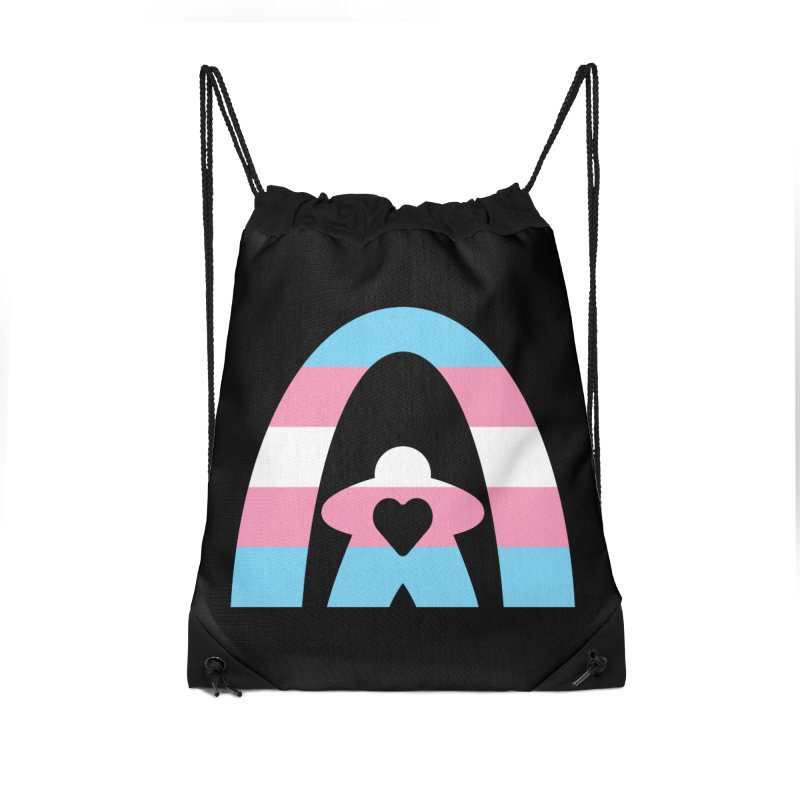 Geekway Trans Accessories Drawstring Bag Bag by Geekway's Artist Shop