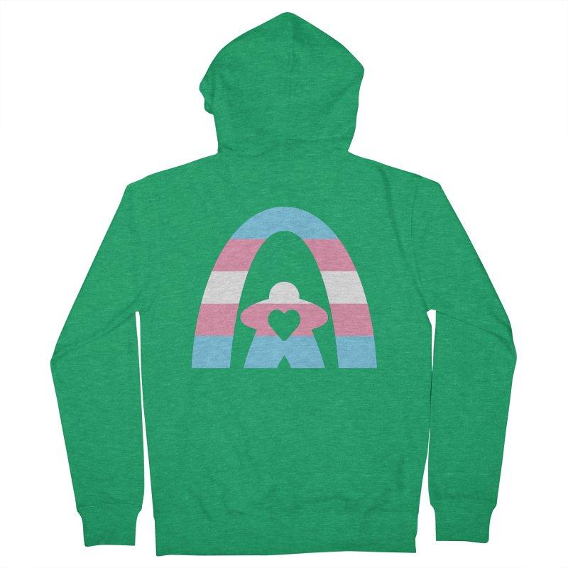 Geekway Trans Men's Zip-Up Hoody by Geekway's Artist Shop