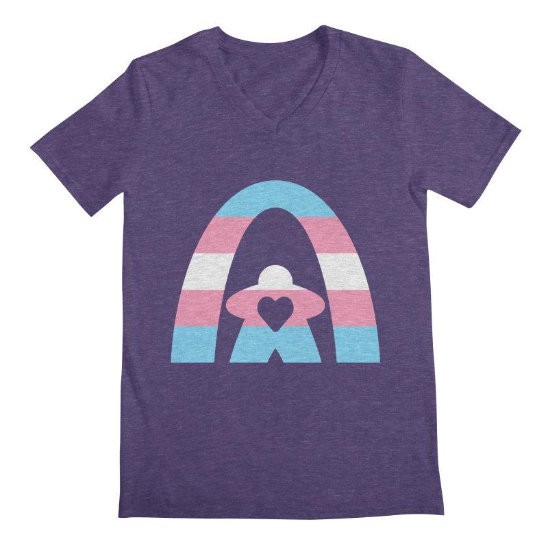 Geekway Trans Men's Regular V-Neck by Geekway's Artist Shop